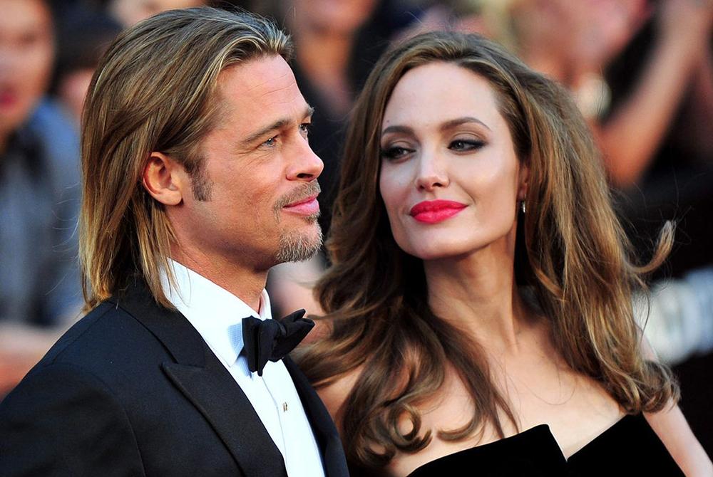 На фото: Анджелина Джолі та Бред Пітт