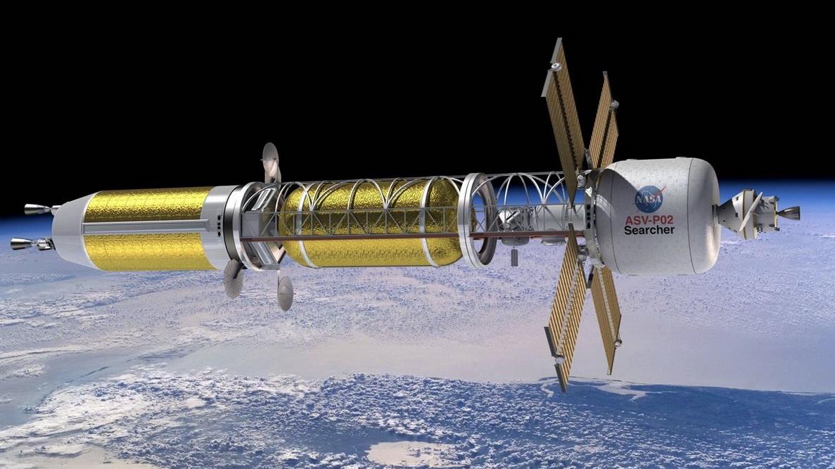 На фото: ілюстрація концептуального космічного корабля з ядерною тепловою руховою установкою/NASA